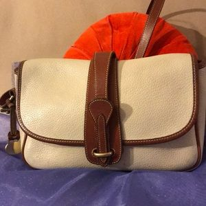 VTG Dooney & Bourke Equestrian crossbody bag bone